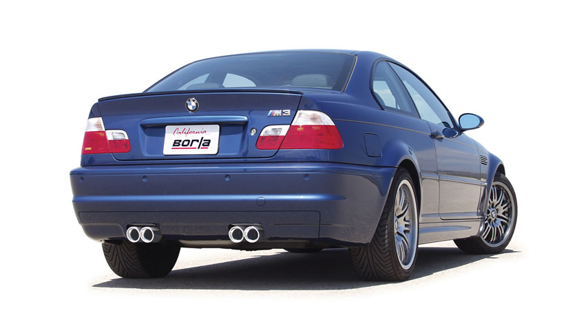 E46 BMW M3 with a Borla Cat-Back Exhaust System