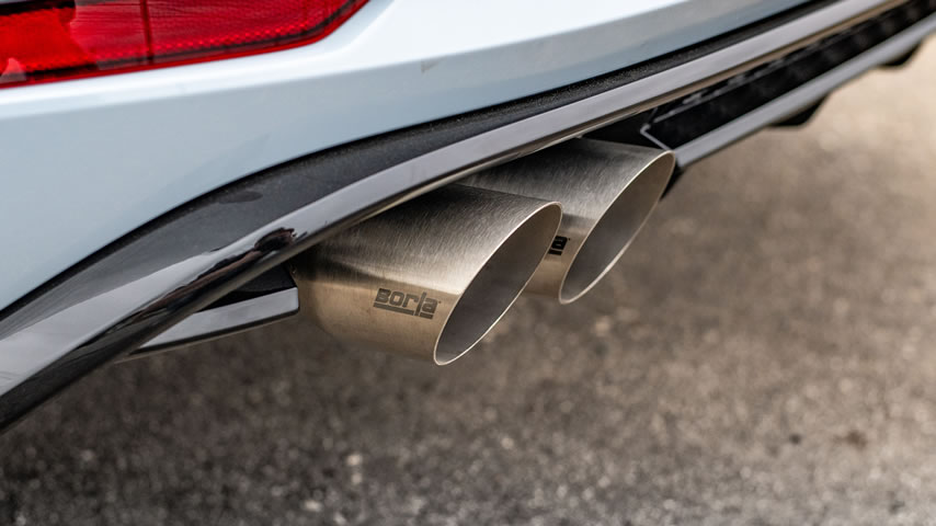 2019 Volkswagen Golf R with Borla Cat-Back Exhaust - Tip Detail