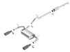 JKU Wrangler 4 door 2012-2018 Cat-Back Exhaust Touring part # 140459BC